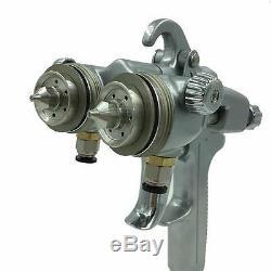 Pistolet À Peinture En Aérosol Sat1189 Hvlp Feed Gravity Kit Pulvérisateur Manomètre Auto 1