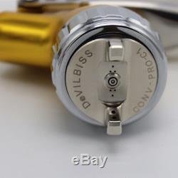 Pistolet À Peinture Hvlp Devilbiss Gfg Pro Gold 1.4mm Peinture De Véhicule Véhicule Peint Nouveau