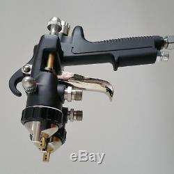 Pistolet À Peinture Hvlp Nano Chrome Double Bec Pneumatique Machine Outil Peinture Voiture
