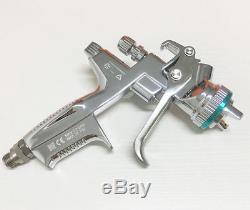 Pistolet De Pulvérisation D'argent Hvlp Avec Cup Pistolet À Peinture De Gravité 1.3mm Avec Boîte