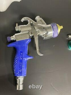 Pistolet De Pulvérisation De Turbine De Hvlp De Fuji T75g Avec Trois Chapeaux D'air, Aiguilles, Et Buses