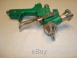 Pistolet Pulvérisateur De Peinture Vert-foncé Anodisé Pneumatique De Sarcelle De SATA Klc Hvlp Avec 1,7 Bout