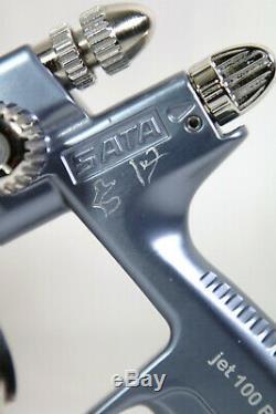 SATA Jet 100 Bf Hvlp 1.9 Pistolet D'arrosage Avec Coupelle En Aluminium De 1 L Qcc # 683