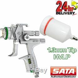 SATA Jet 5000 B Hvlp Pistolet 1.3mm Pointe Digital Guage 0.6l Pistolet À Peinture