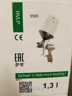 SATA X5500 Hvlp Numérique Spray Paint Gun, 1.3 I, Avec Rps Coupes Factory Nouveau Etanche