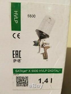 SATA X5500 Hvlp Numérique Spray Paint Gun, 1.4 I, Avec Rps Coupes Factory Nouveau Etanche
