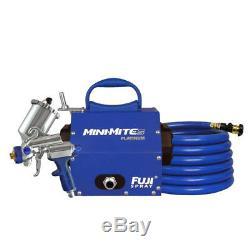Système De Pulvérisation Fuji Spray Mini-mite 5 Platinum Gravity Hvlp (bleu)