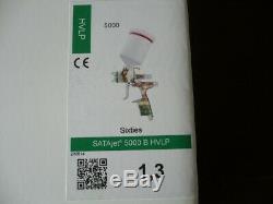 Véritable SATA Jet 5000 B Hvlp Sixties Avec 1,3, Avec 0,6 L Avec Tasse En Plastique, Non Numérique