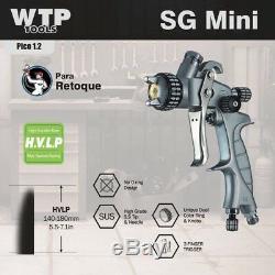 Wtp Sgmini Hvlp Professional Spray Paint Gun 1.2 100 ML Coupe Mini Jet D'encre Couleur / Effacer